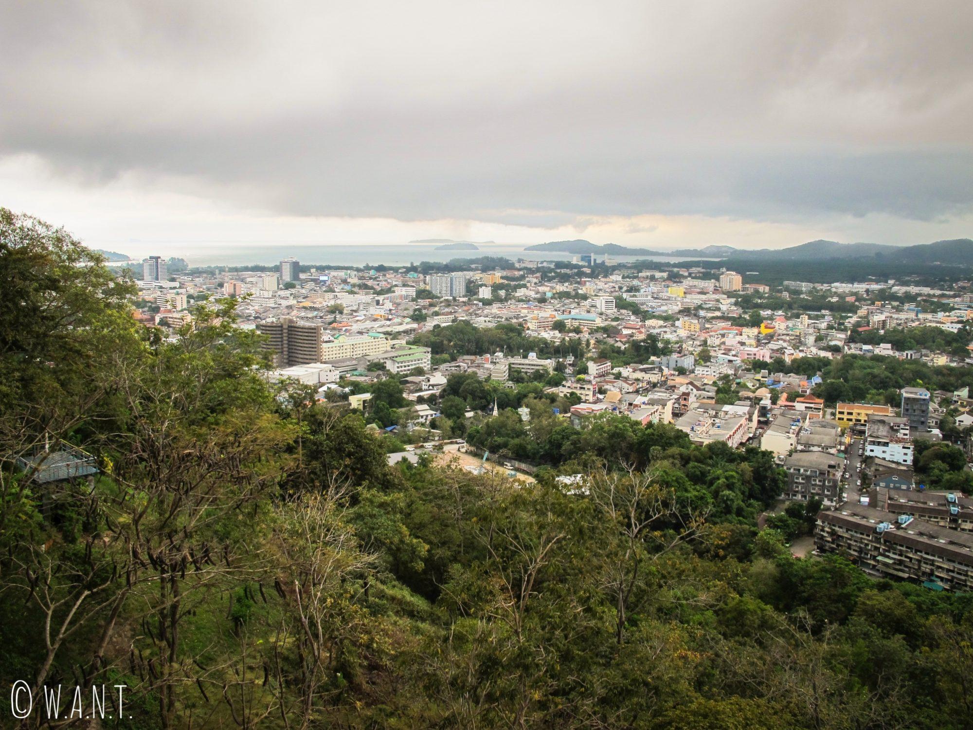 Vue depuis le Khao Rang Hill de Phuket