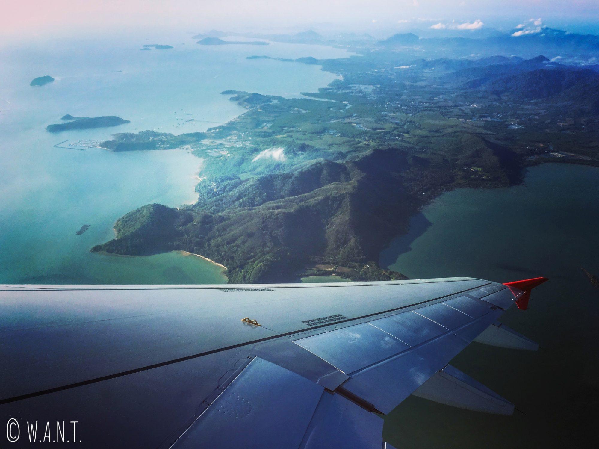 Vue depuis le vol Kuala Lumpur à Miri
