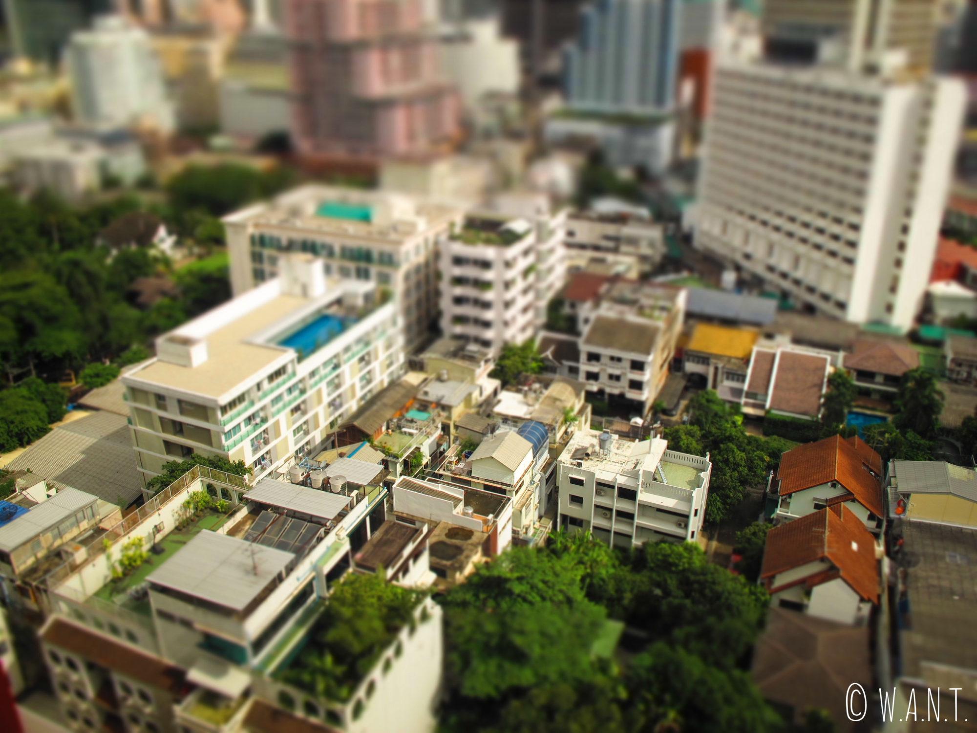 Vue depuis l'un de nos logements à Bangkok