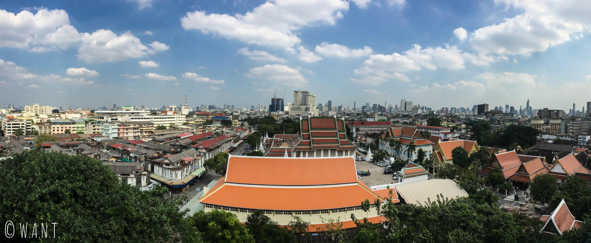 Vue panoramique depuis le Golden Mount de Bangkok