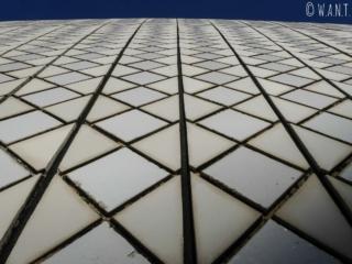 Faïence bicolore sur la toiture de l'opéra de Sydney