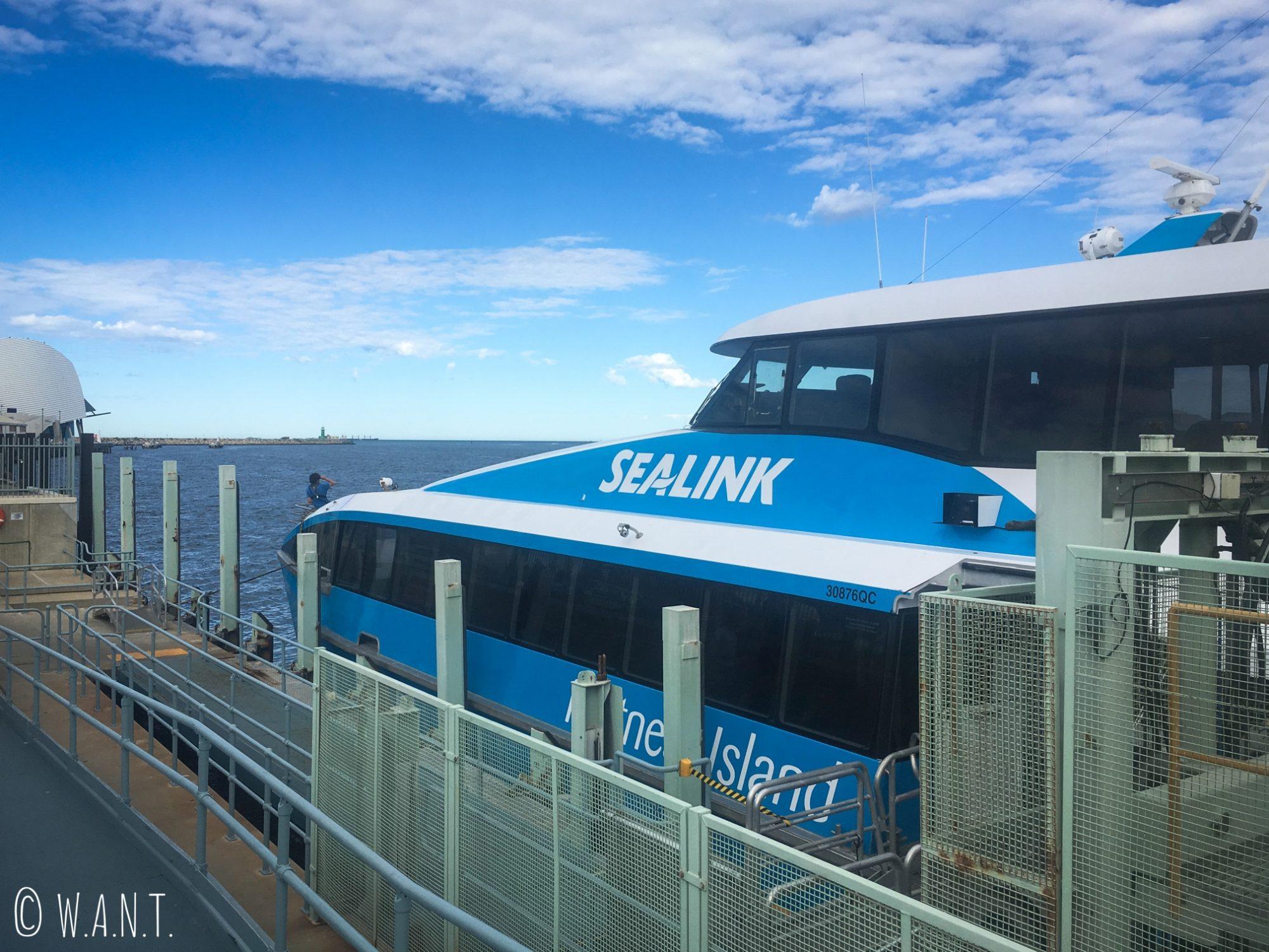 Ferry de la compagnie Sealink pour rejoindre Rottnest Island
