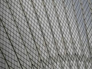 Gros plan sur la faïence de l'opéra de Sydney