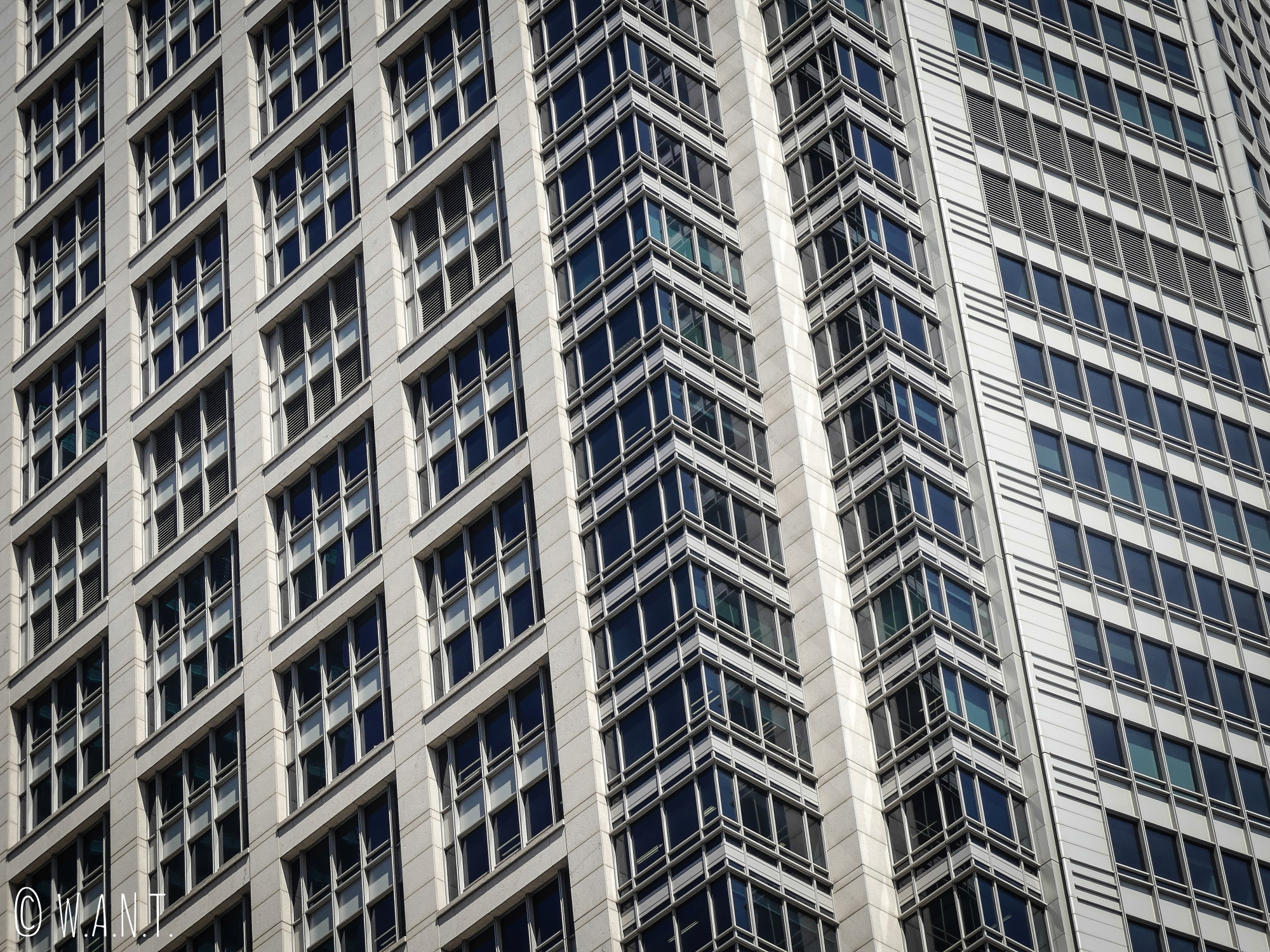 Gros plan sur l'un des immeubles de Sydney