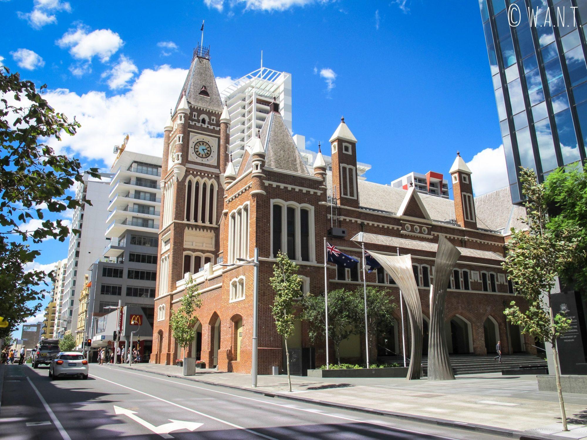 L'Hôtel de ville de Perth, situé sur Barrack Street