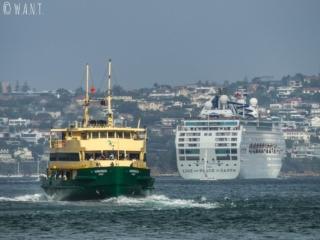 Les ferries côtoient les bateaux de croisières dans la baie de Sydney