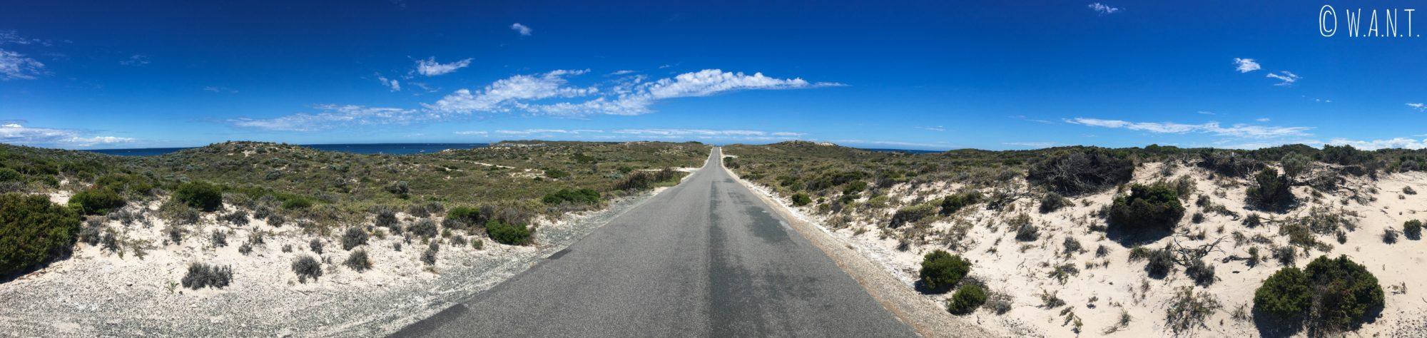 L'une des routes de Rottnest Island