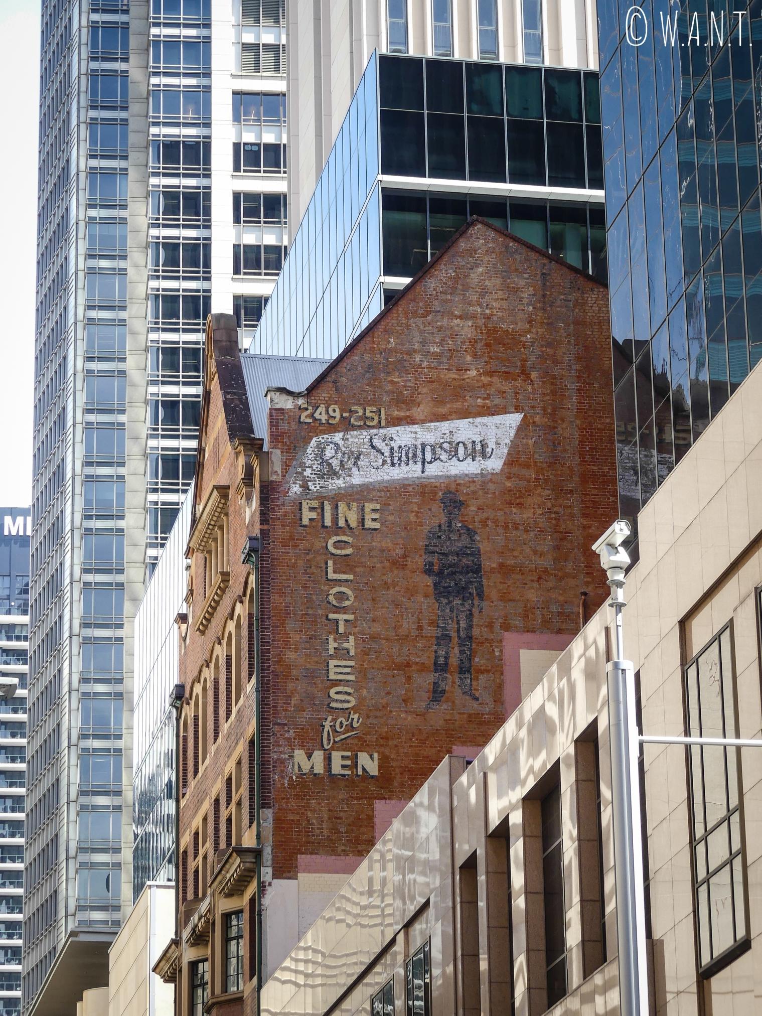 Mélange de styles d'architecture à Sydney