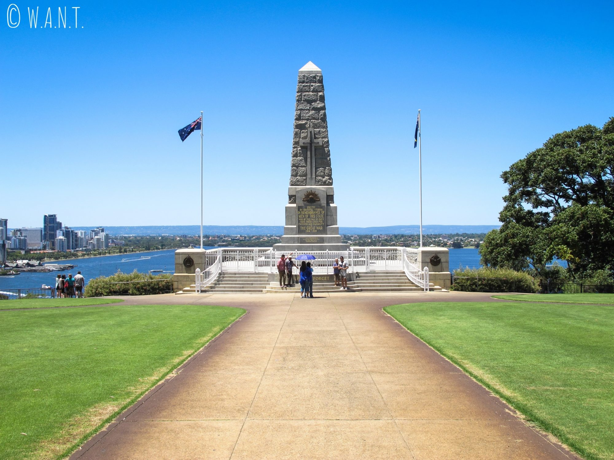 Monument mémorial de guerre au Kings Park de Perth