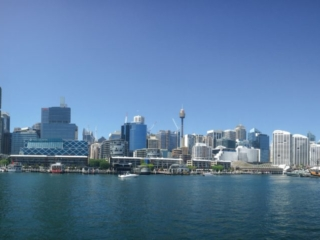 Panorama de Darling Harbour à Sydney