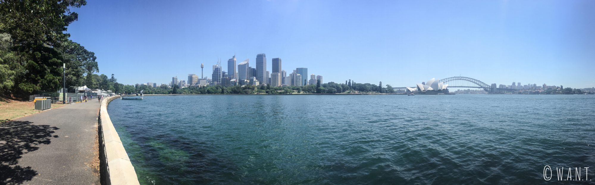 Panorama depuis Macquarie's point à Sydney
