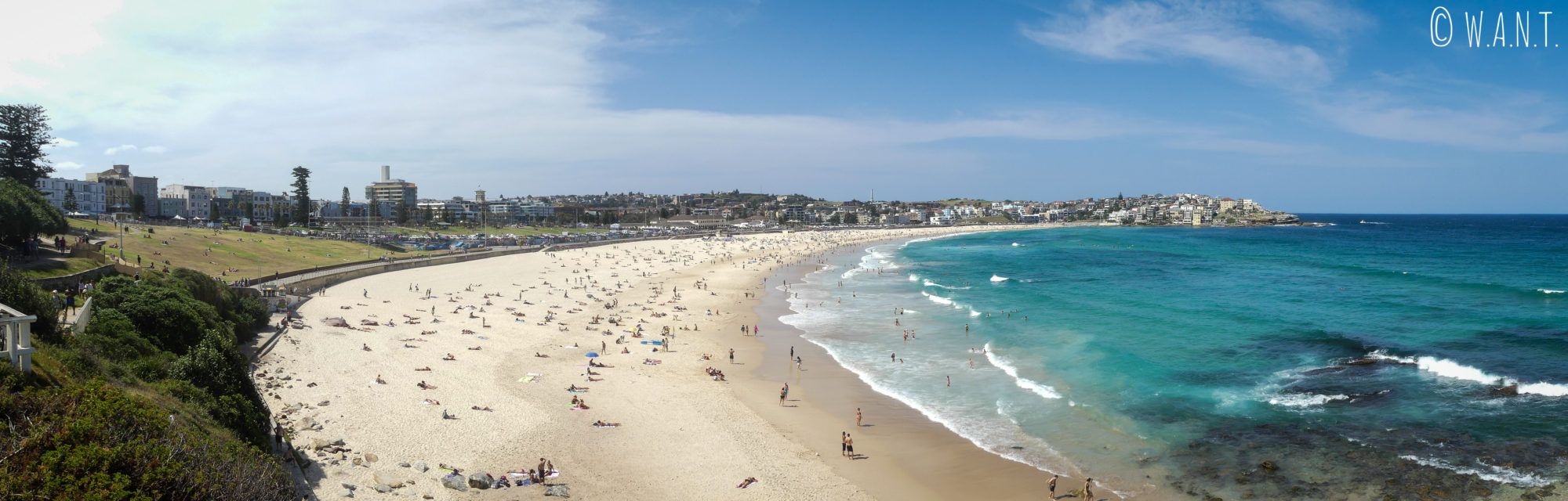Panorama en hauteur sur la plage de Bondi près de Sydney