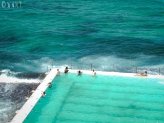 Piscine d'eau salée à la plage de Bondi près de Sydney