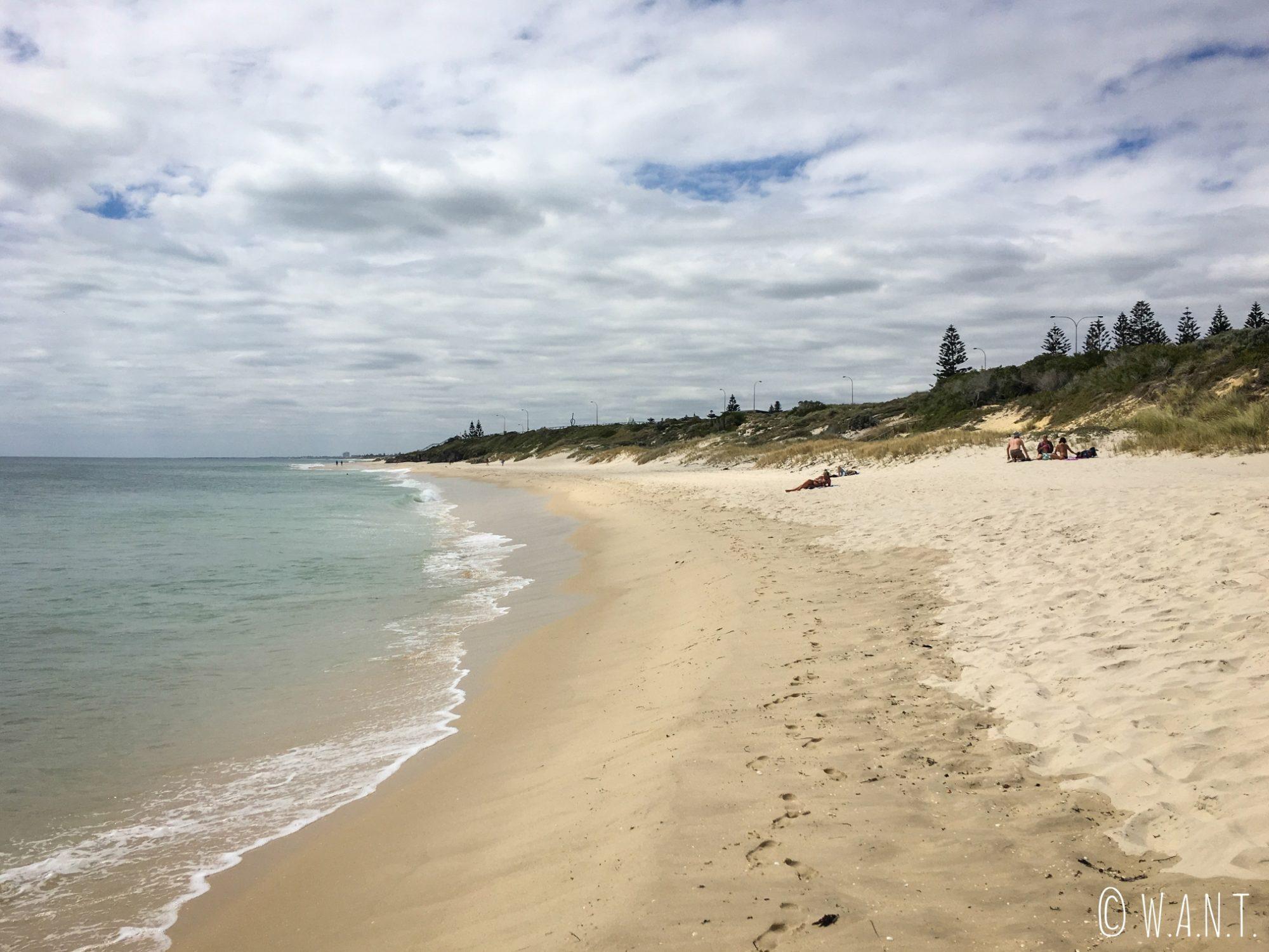 Plage de Cottesloe située au sud de Perth, vers Fremantle