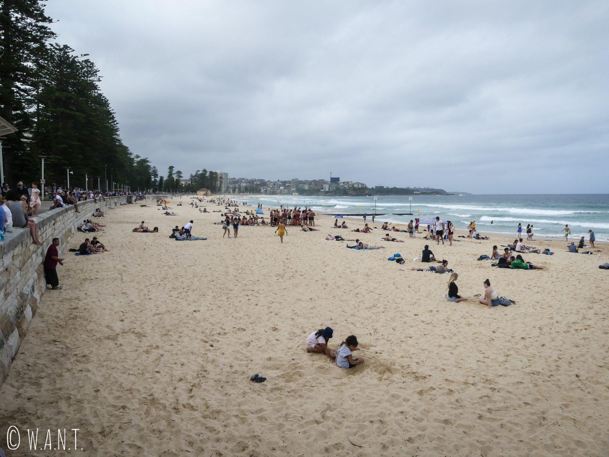 Plage de Manly Beach près de Sydney
