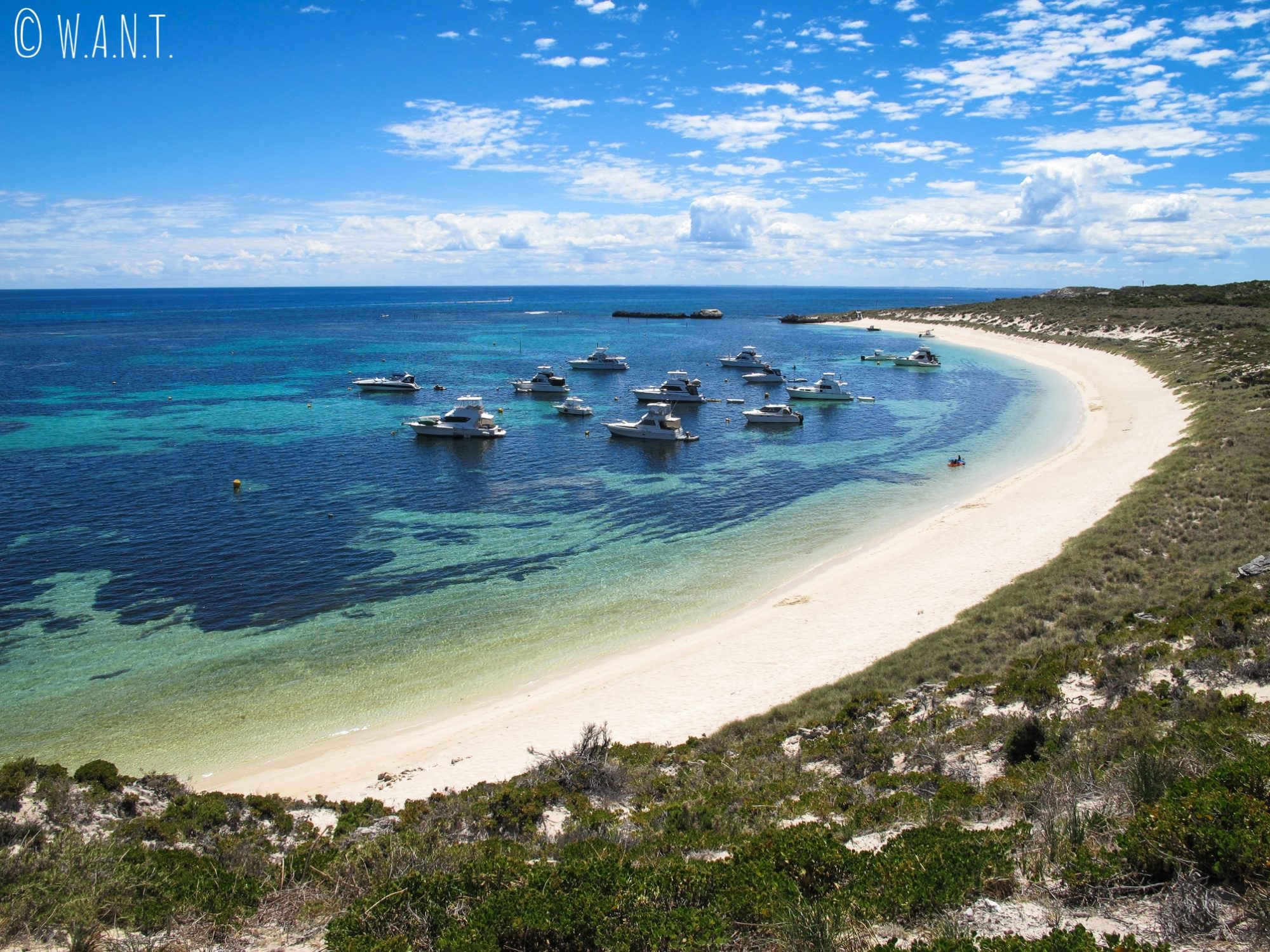 Plage sublime de Narrow neck sur Rottnest Island