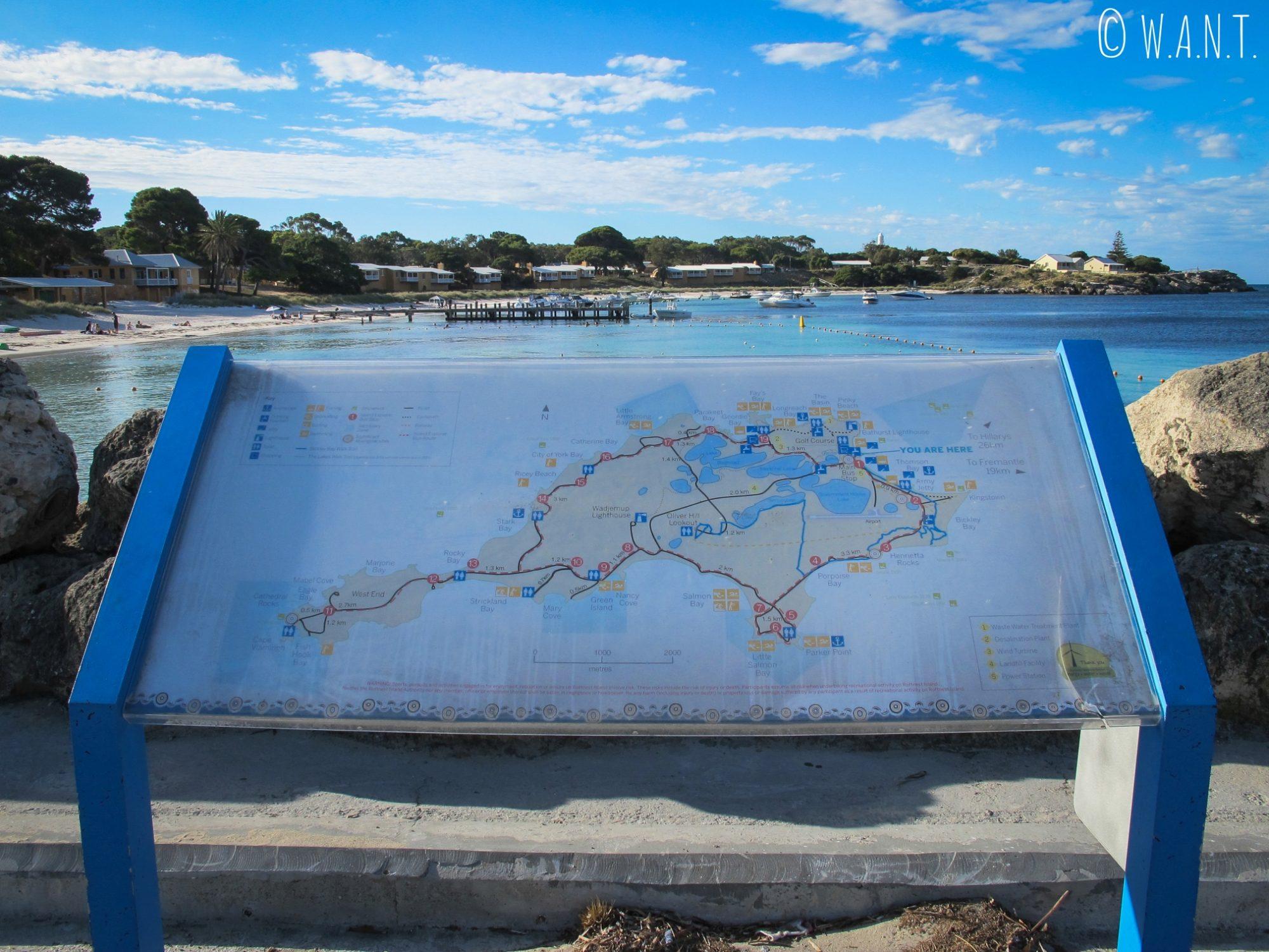 Plan de Rottnest Island