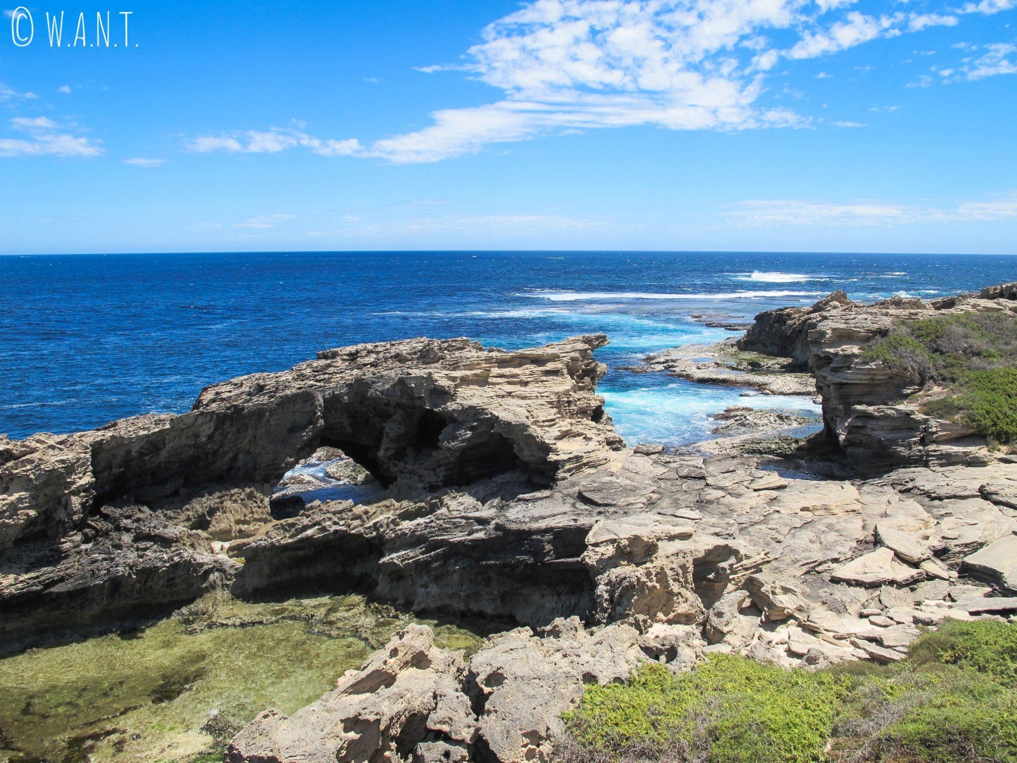 Rochers au Cape Vlamingh de Rottnest Island