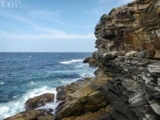 Roches le long de la Coastal Walk menant de Bondi à Coogee