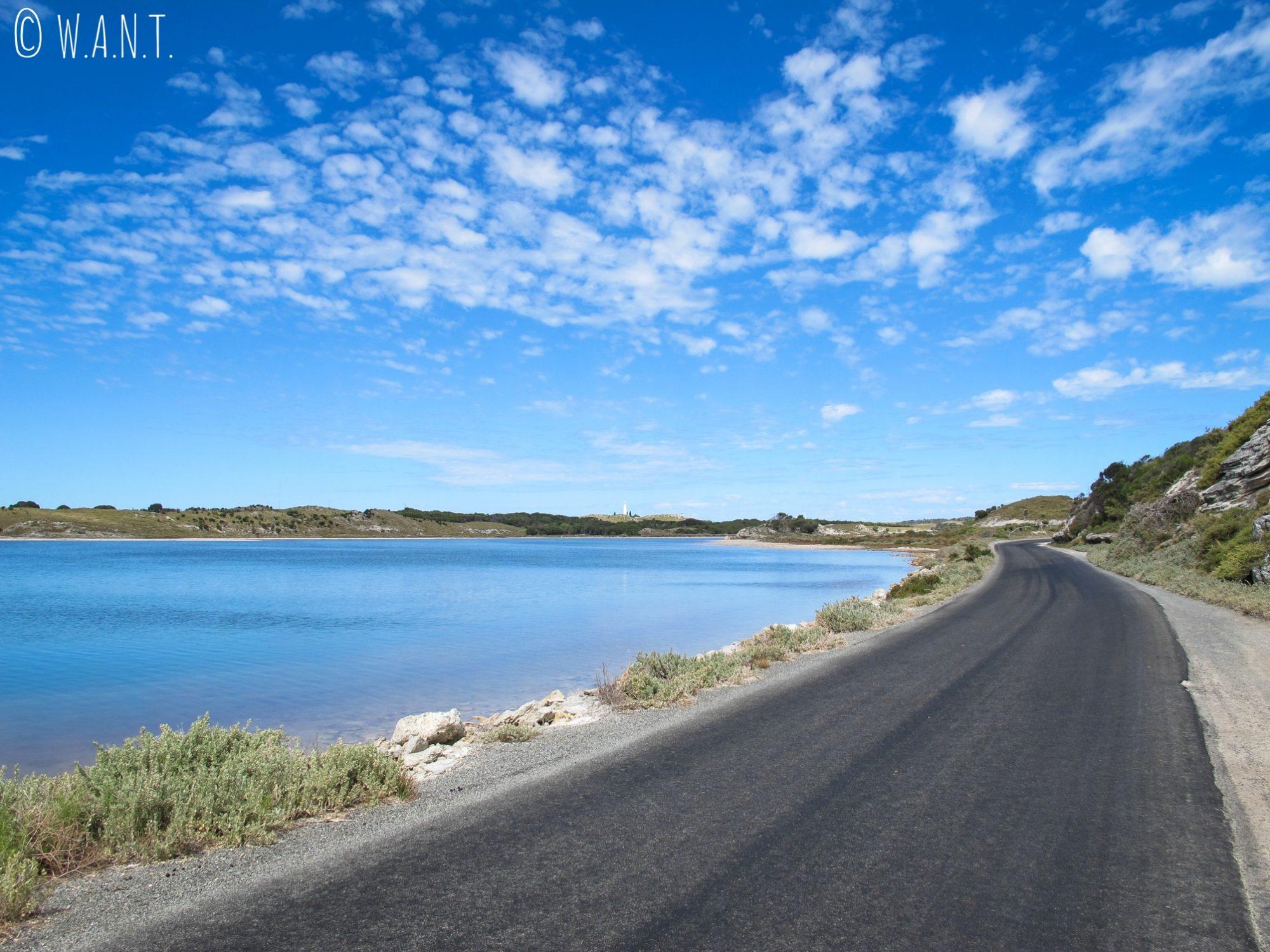 Route et phare sur Rottnest Island