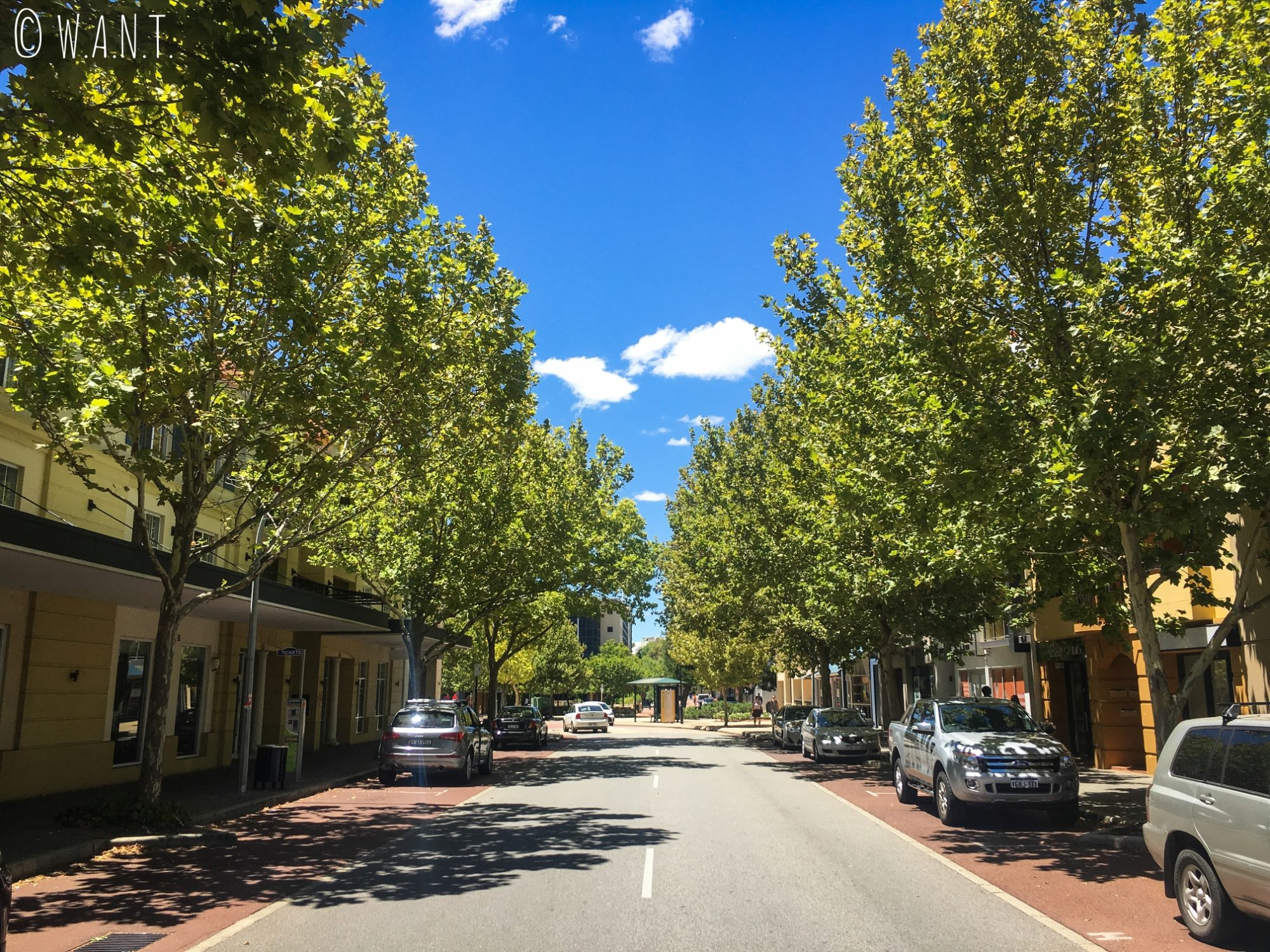 Rue du quartier de East Perth