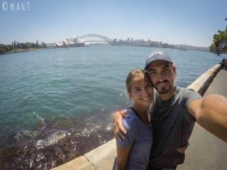 Selfie depuis Macquarie's point à Sydney