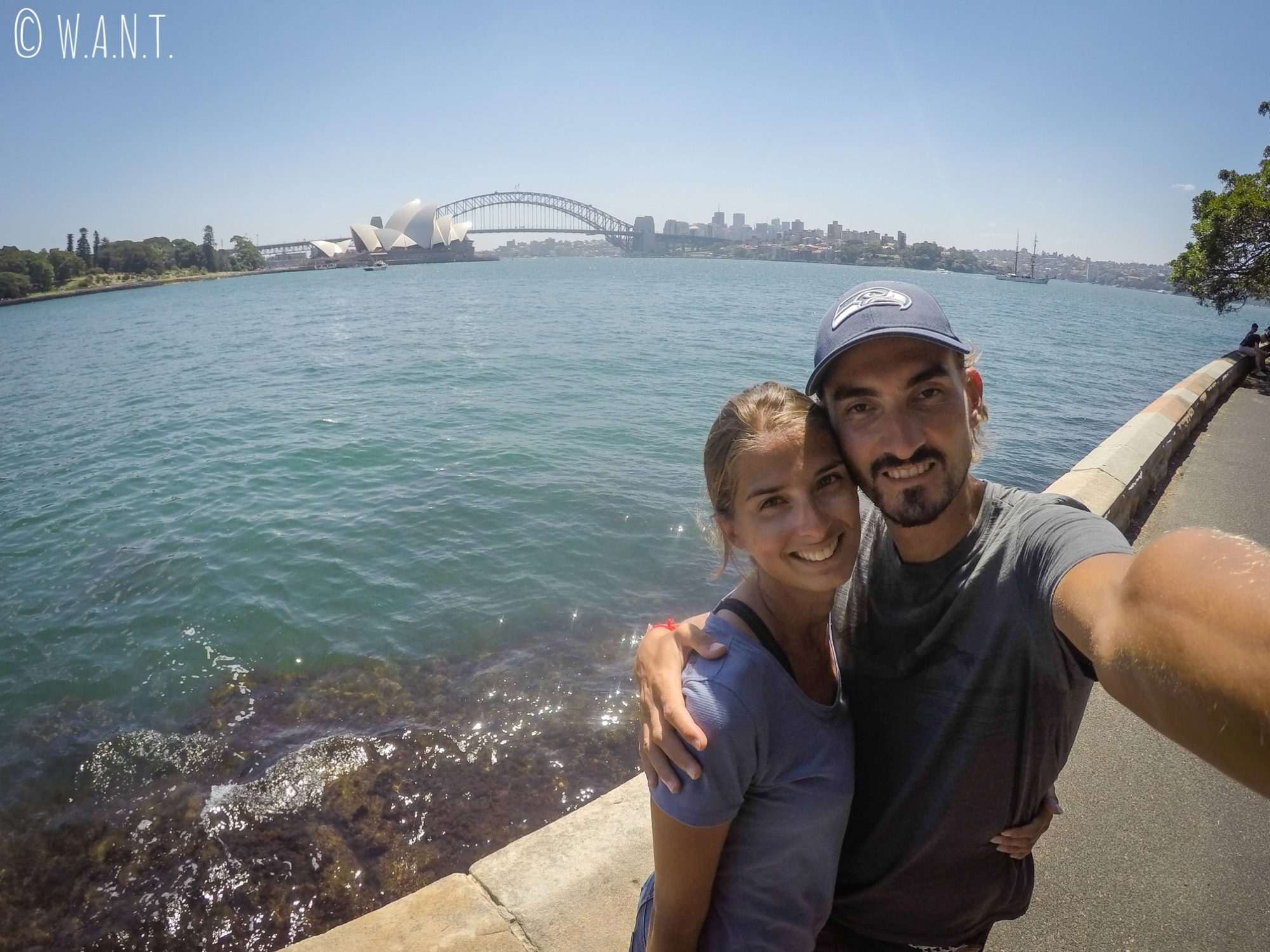 Selfie depuis Macquarie's point à Sydney