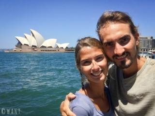 Selfie devant l'opéra de Sydney