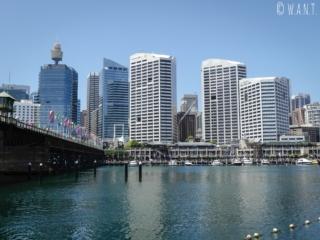 Skyline de Sydney depuis Darling Harbour