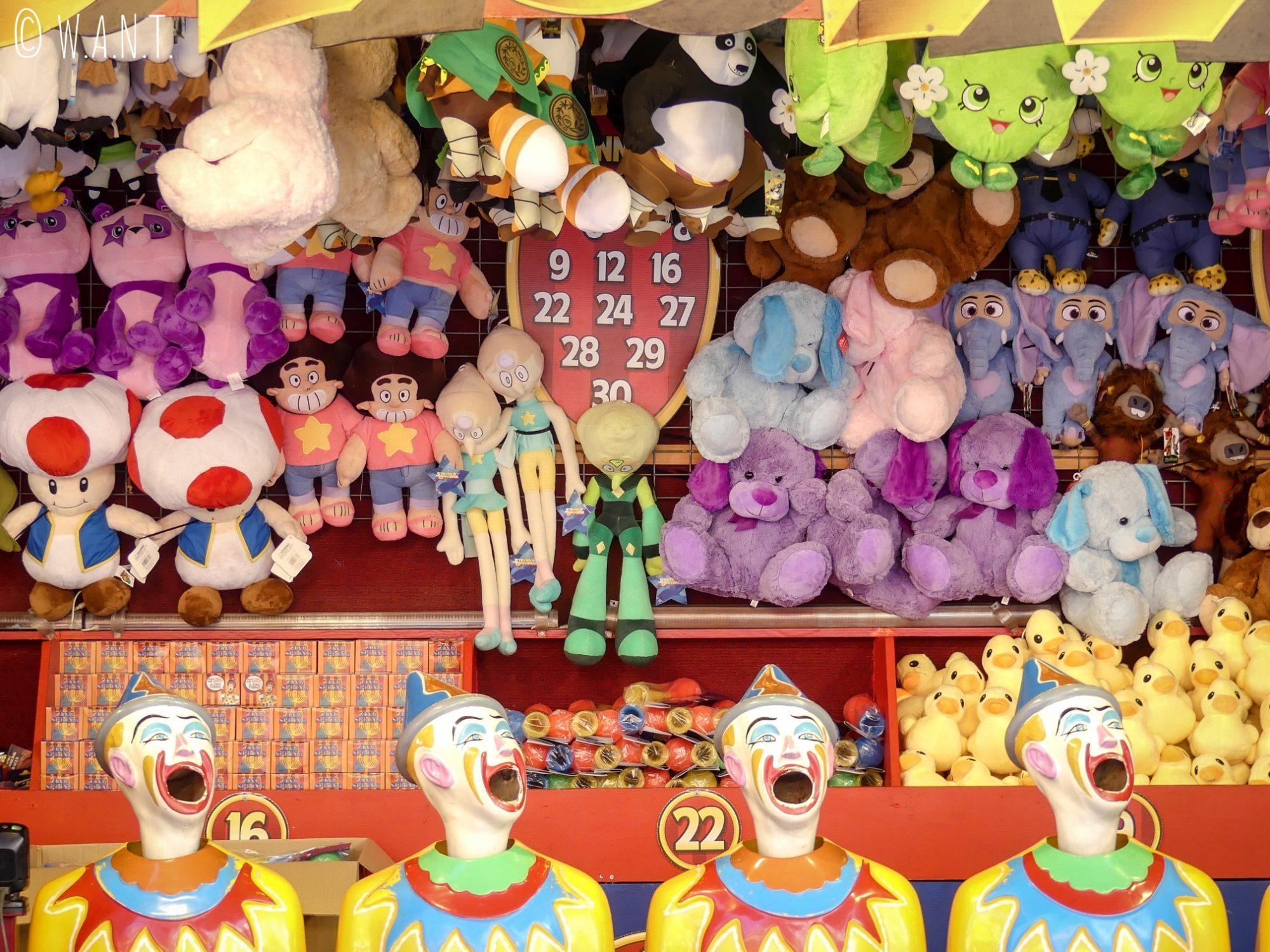 Stand de jeux au Luna Park de Sydney