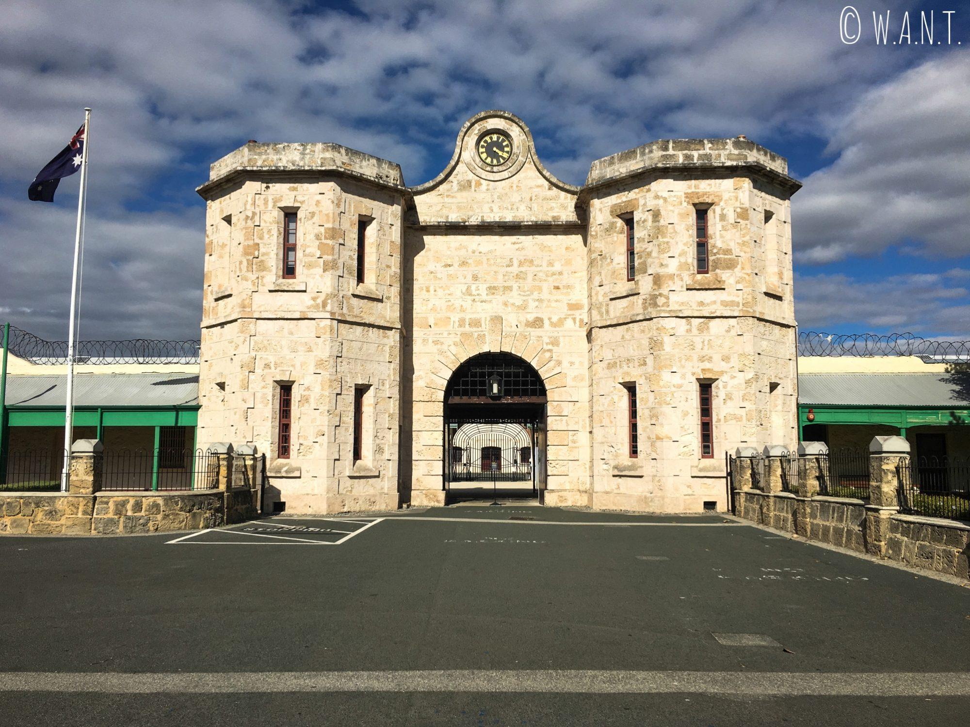 Voici l'entrée de la prison de Perth, classée à l'Unesco et reconvertie en musée mémorial