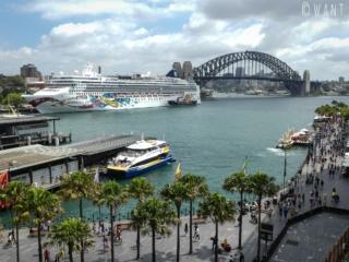 Vue en plongée sur Circular Quay à Sydney