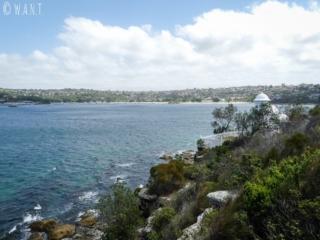 Vue près du phare, sur la randonnée Manly Scenic Walkway