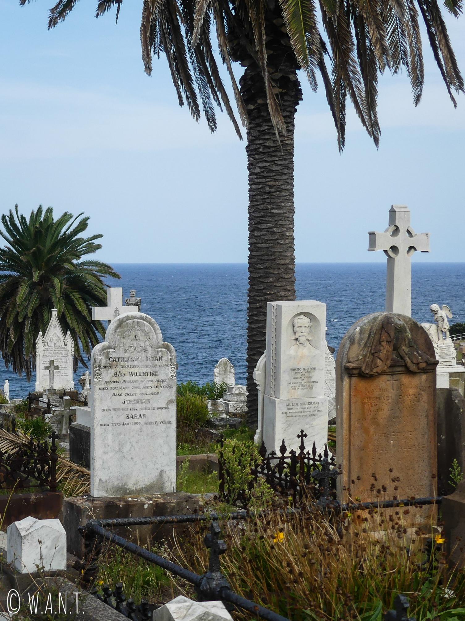 Waverley Cemetery sur la Coastal Walk de Bondi à Cogee