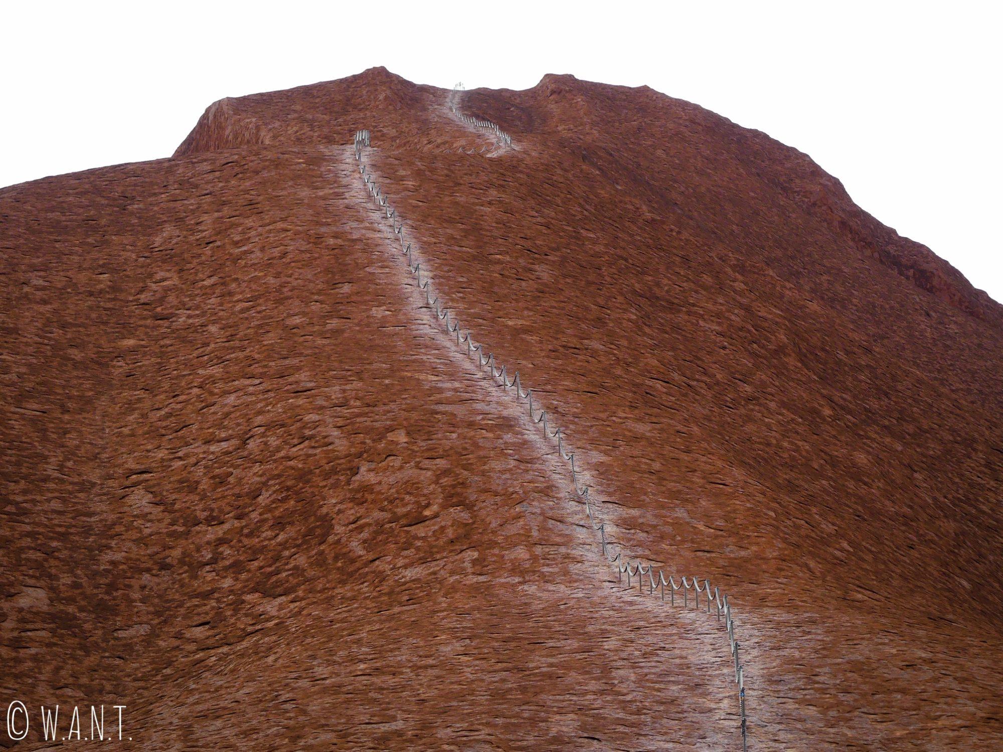 Chemin pour accéder au sommet d'Uluru