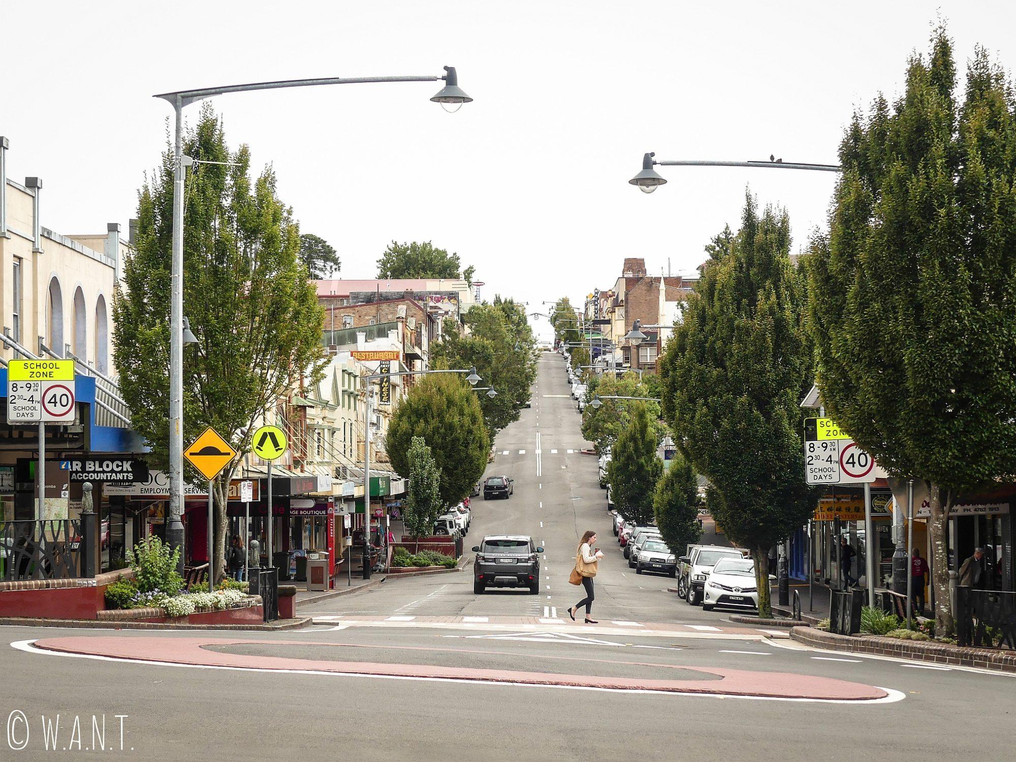 Dans le centre ville de Katoomba, au coeur des Blue Mountains