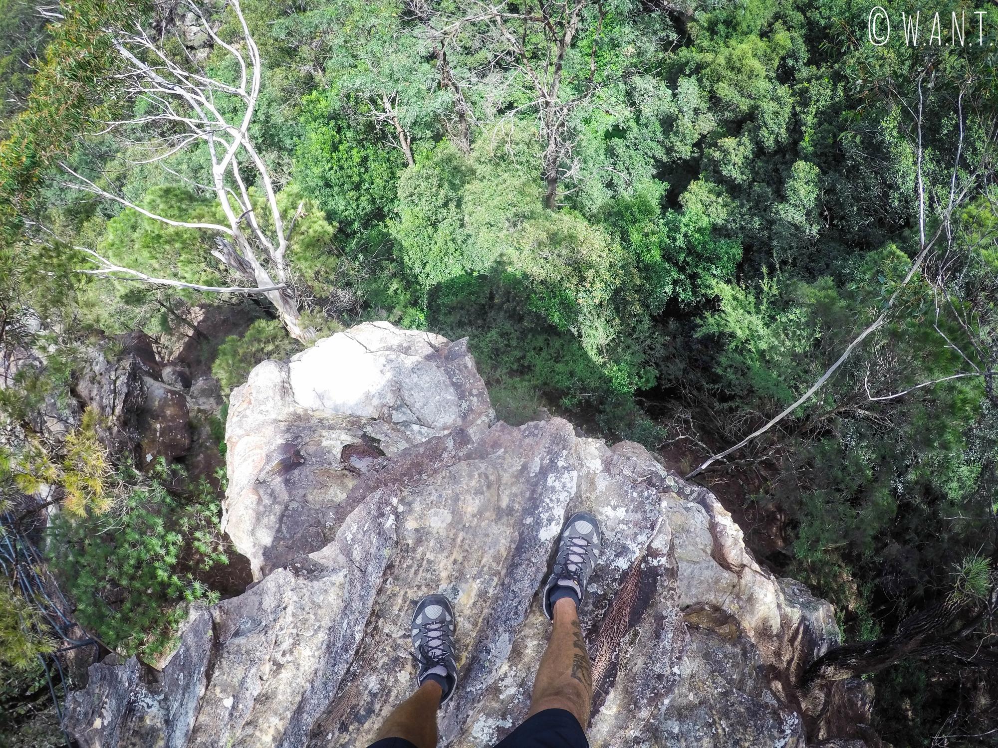 Il ne faut pas craindre le vertige lors d'une randonnée sur les sentiers des Blue Mountains