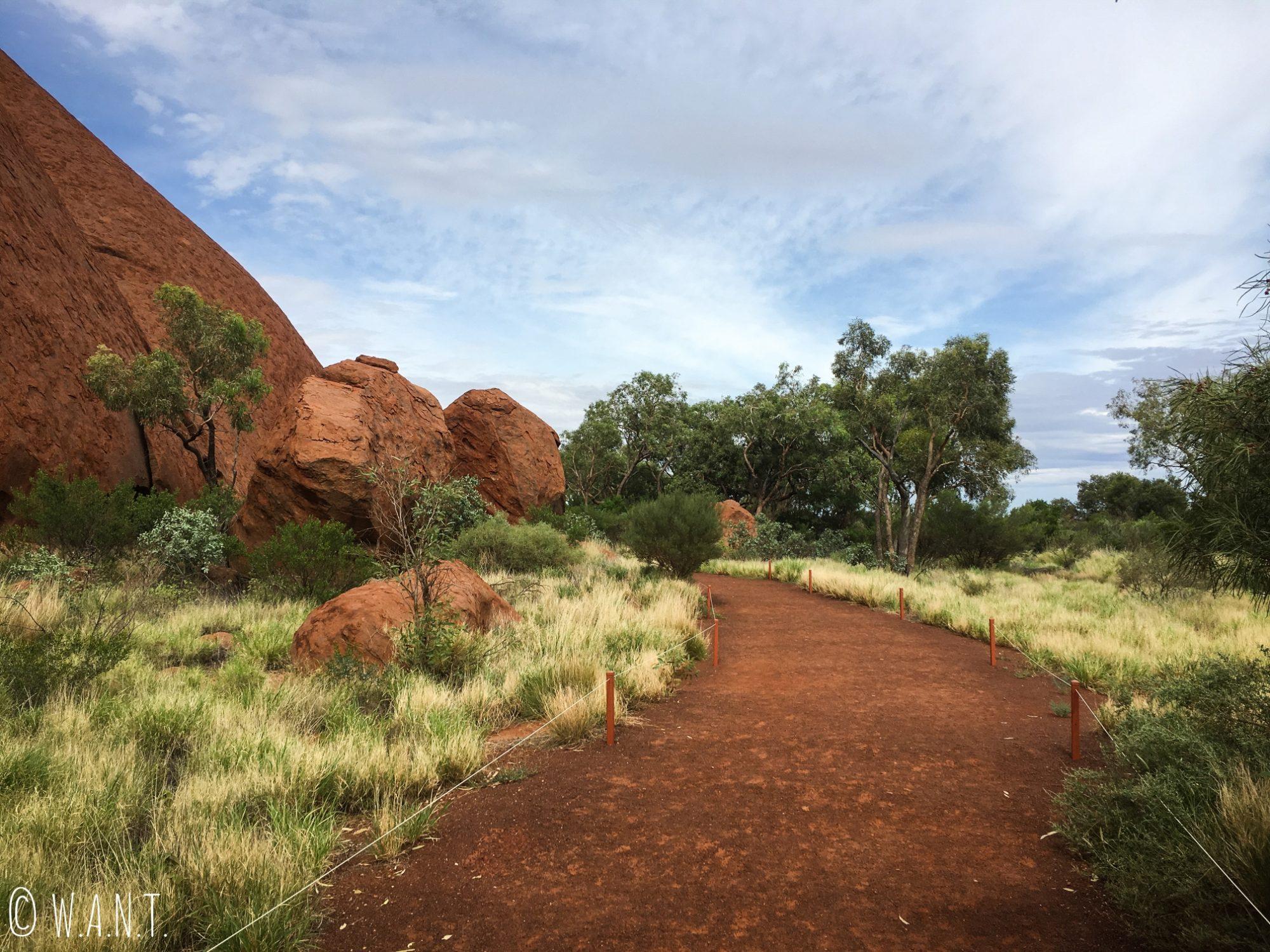 Le chemin de la randonnée Uluru Base Walk est très bien balisé