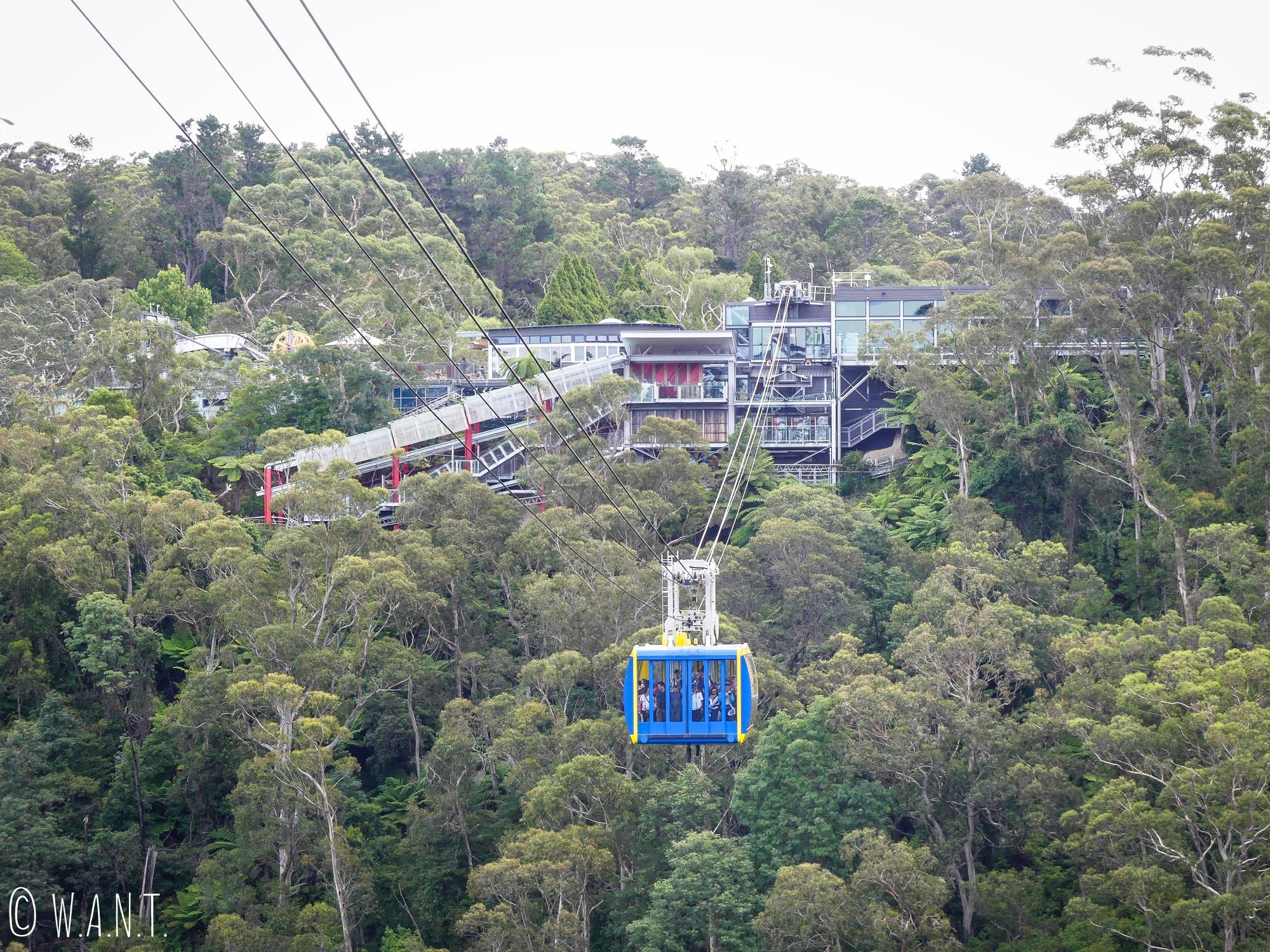 Le télécabine du Scenic World marche à plein régime dans le parc national des Blue Moutains