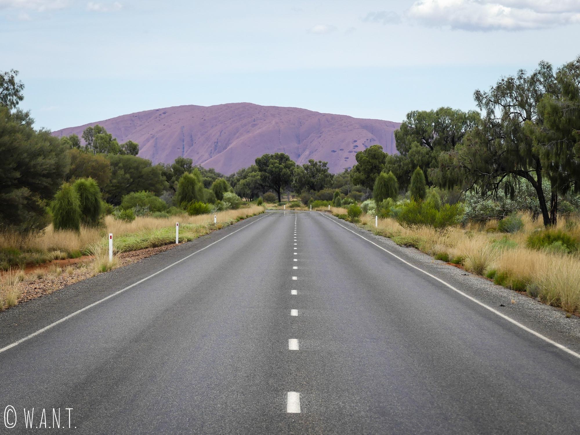 Sur la route en direction d'Uluru