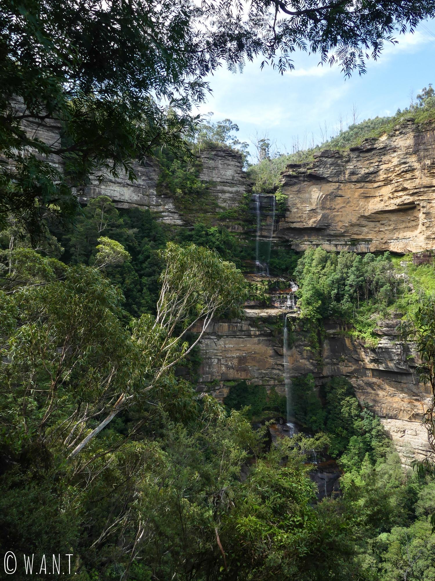Une chute d'eau dans le parc national des Blue Moutains