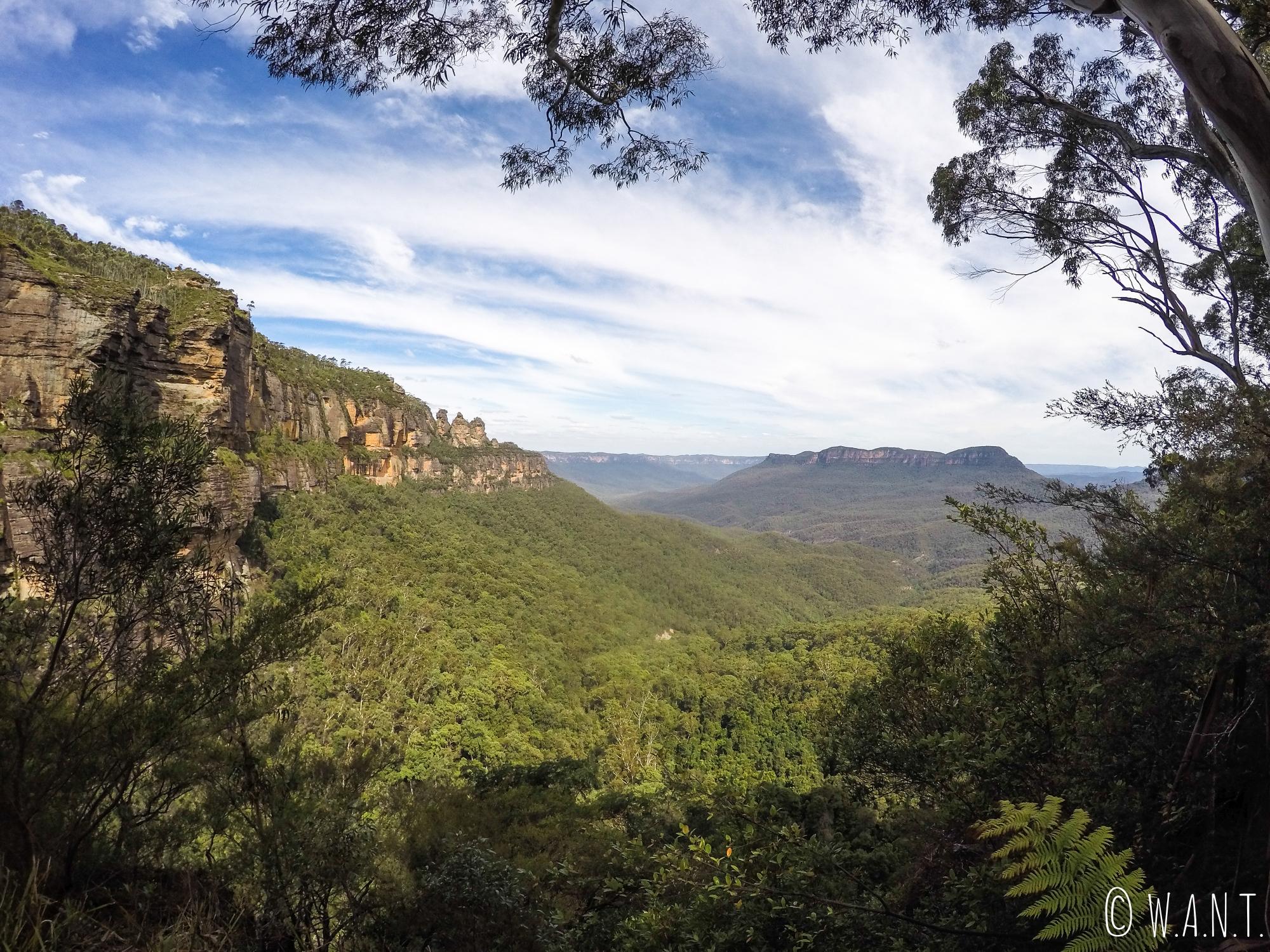 Vue imprenable sur les Blue Mountains, près de Sydney