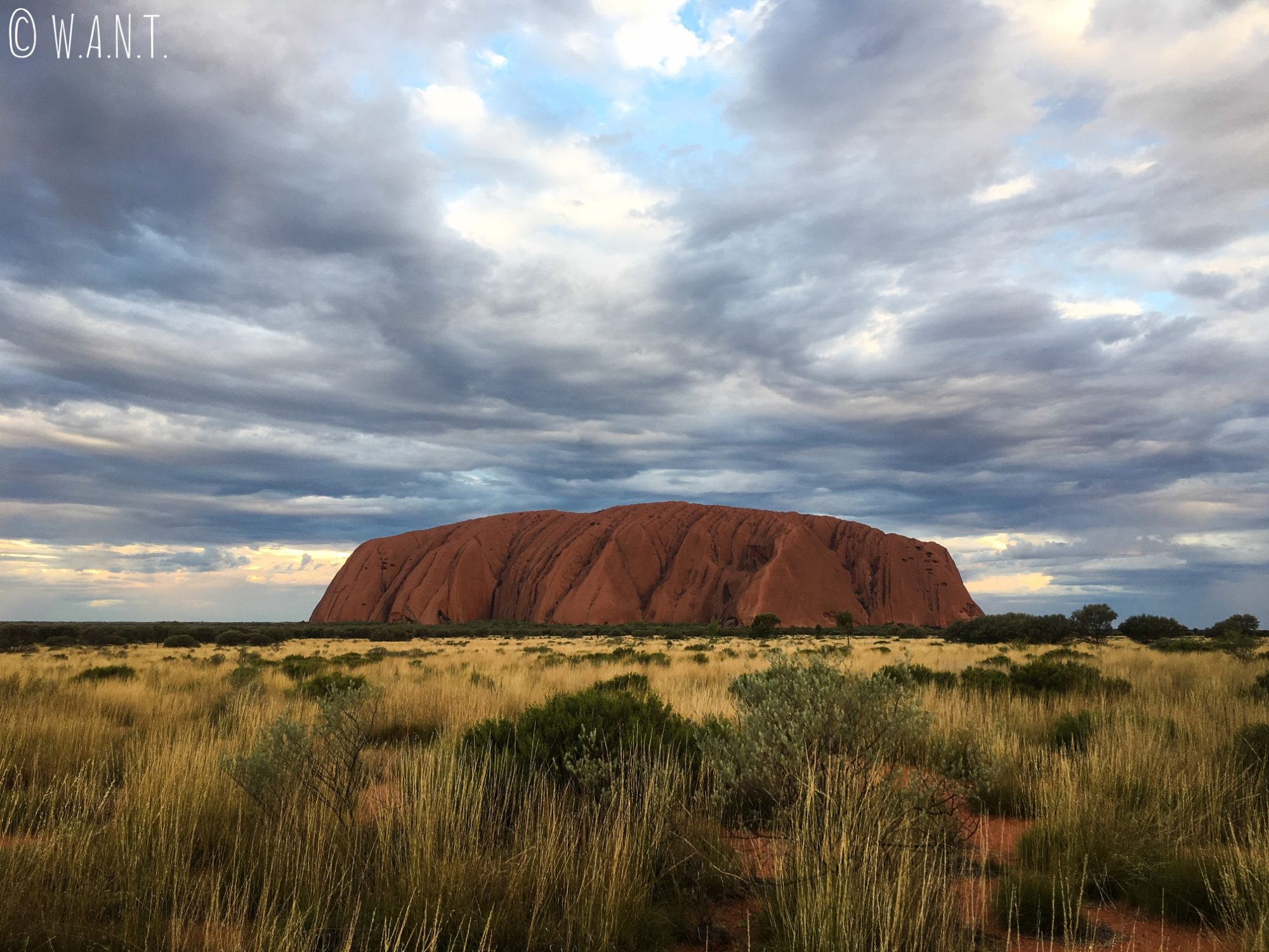 Vue sur Uluru au coucher de soleil depuis le point de vue appelé Car Sunset