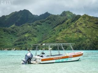 Bateau de Taina pour son excursion à la journée dans le lagon de Moorea