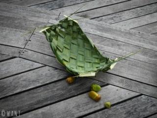 La feuille de palmier est à la base de nombreuses confections dans l'artisanat local