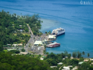 Le port de Vaiare acceuille deux compagnies de ferry sur Moorea
