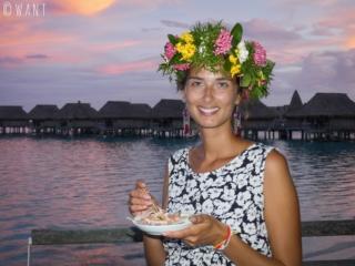 Marion se régale au Sofitel de Moorea avec un délicieux thon rouge à la tahitienne