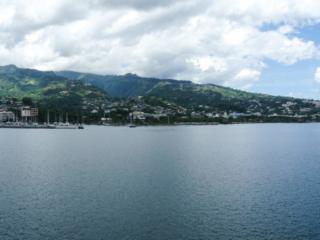 Panorama du port de Papeete