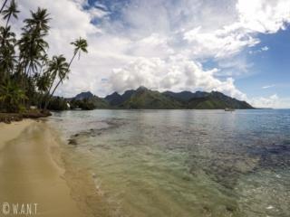 Plage publique de Ta'ahiamanu sur l'île de Moorea