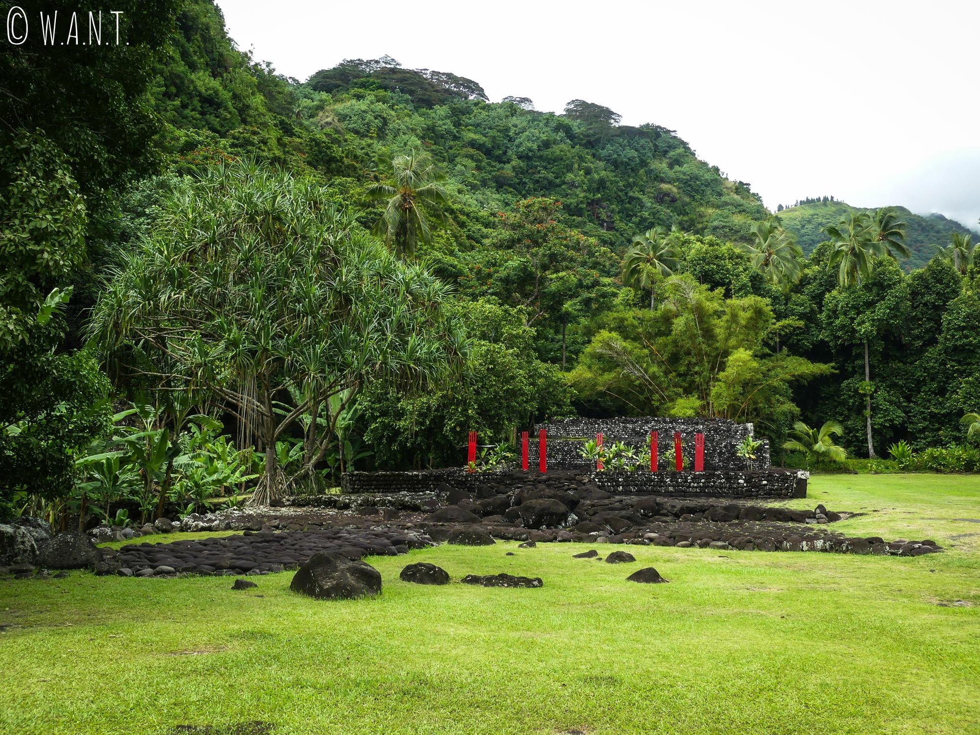 Ruines du Marae Arahurahu de Tahiti